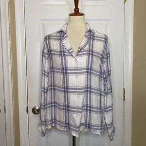 Rails Women's Top Button Down Flannel Plaid NWT